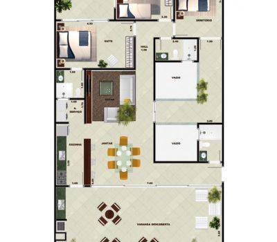 Planta apartamento Toninhas Cobertura / Penthouse