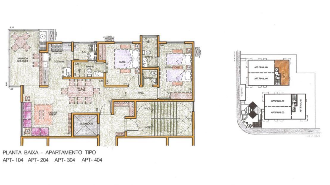 Residencial Apartamento na planta em Ubatuba -Residencial Dona Lourdes no Itagua